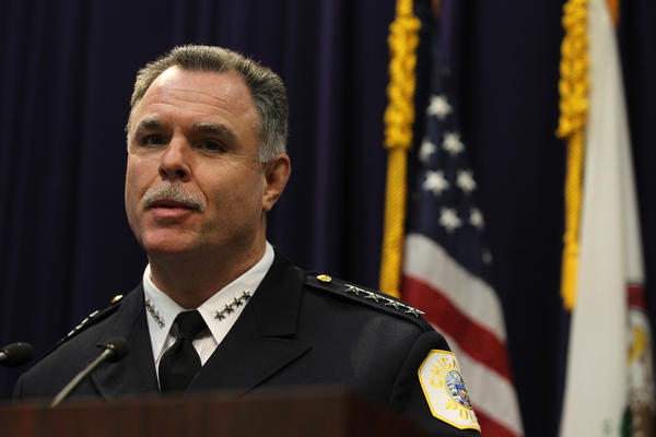 Chicago Police Superintendent Garry McCarthy talks about the fall in the overall crime rate in Chicago during a press conference at Chicago Police Headquarters on Nov. 26.