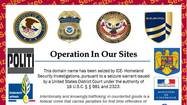 Federal agents in Baltimore seized 36 commercial websites on Monday as part of an international operation to stop fraudulent online sales this holiday season, alleging that the sites have been selling counterfeit goods — including athletic gear bearing the copyrighted logos of pro sports teams.