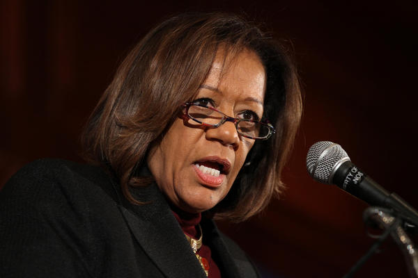 Chicago Public Schools CEO Barbara Byrd-Bennett speaks at the City Club of Chicago luncheon on Monday.