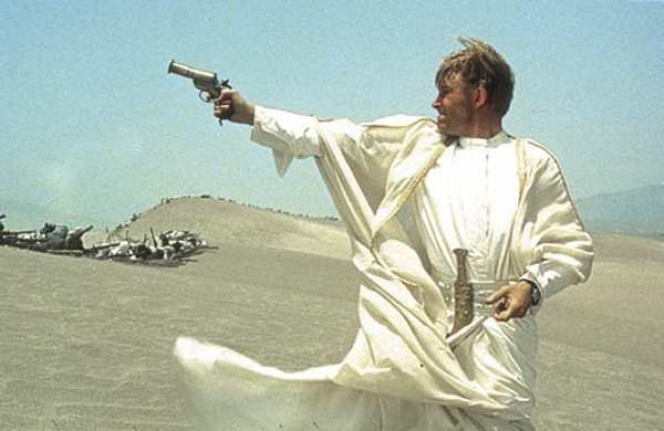 "A scene from ""Lawrence of Arabia"" with Peter O'Toole."