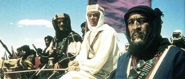 "A scene from ""Lawrence of Arabia"" with Omar Sharif, Peter O'Toole and Anthony Quinn."