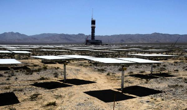 BrightSource Energy's Ivanpah Solar Electric Generating Station in the Ivanpah Valley.