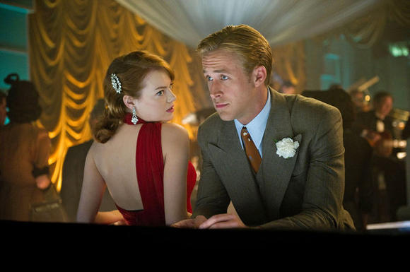 "Emma Stone and Ryan Gosling in ""Gangster Squad"""