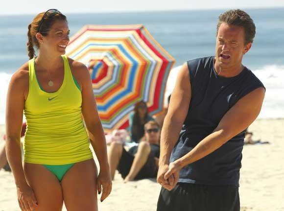 """Go On""  on NBC: Misty May-Treanor  and Matthew Perry"