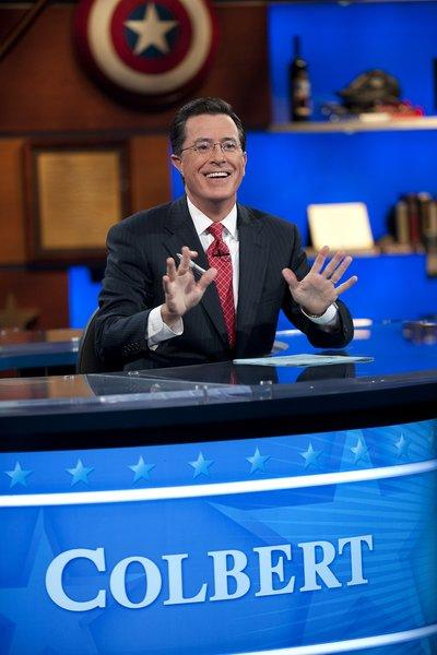 "Host Stephen Colbert appears on ""The Colbert Report,"" which is among the Comedy Central shows that has an agreement with the Writers Guild of America. The WGA, West has asked writers on some new Comedy Central projects that don't to stop work."