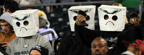 Fans enjoy the action during the Eagles vs Panthers game at Lincoln Financial Field on Monday.