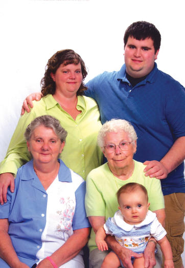 Five generations of Virginia Smith's family