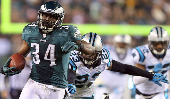 Bryce Brown set a Philadelphia Eagles rookie record by rushing for 178 yards against the Carolina Panthers.
