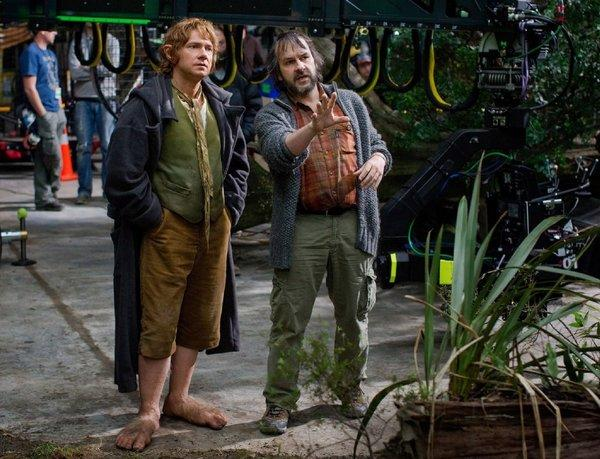 Director Peter Jackson, right, is changing the way movies are made.