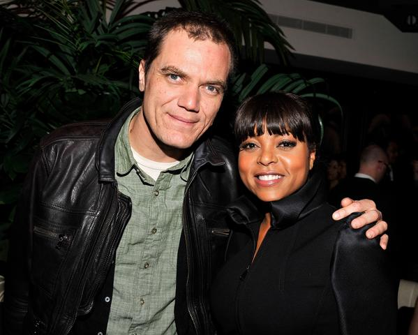 """Boardwalk Empire"" actor Michael Shannon with Taraji B. Henson at the after-party."