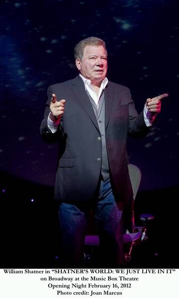 "William Shatner stars in his one-man show, ""Shatner's World,"" Nov. 30 at the Ferguson Center"
