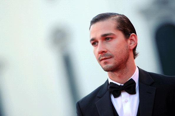 Shia LaBeouf stands on the red carpet prior the screening of 'The company you keep' during the 69th Venice Film Festival on September 6, 2012 at Venice Lido. 'The company you keep' is presented out of competition.