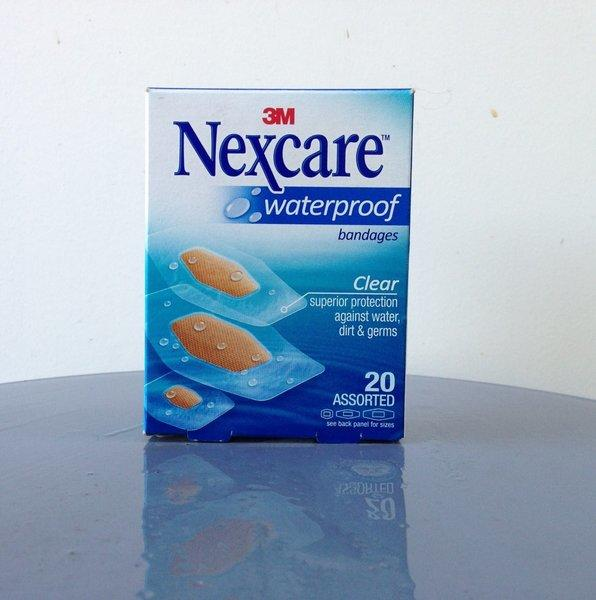 For the occasional and/or hapless cook: Nexcare Waterproof Bandages
