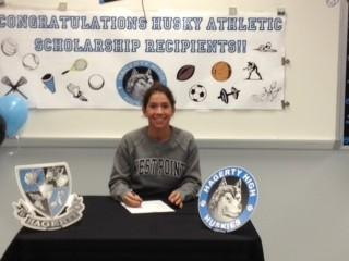 Danielle Nuszkowski from Hagerty High School signed to swim for West Point.