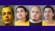 Four gang members have been charged with beating a Cicero man to death  after one accused him of breaking a bottle on the floor at a party they were all attending, authorities said.