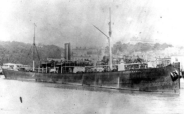 An archive photo of the steamship Hannah M. Bell, date unknown. The ship, loaded with coal for Mexico, sank off the coast near Key Largo in April 1911.