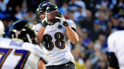 Tale of the Tape: Dennis Pitta's touchdown catch vs. Chargers
