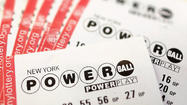 The jackpot for the Powerball lottery soared on Wednesday to a record $550 million and could increase again by the time the winning numbers are drawn on Wednesday, a lottery official said.