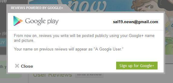 Google Play now requires Google  names in order for users to write reviews.