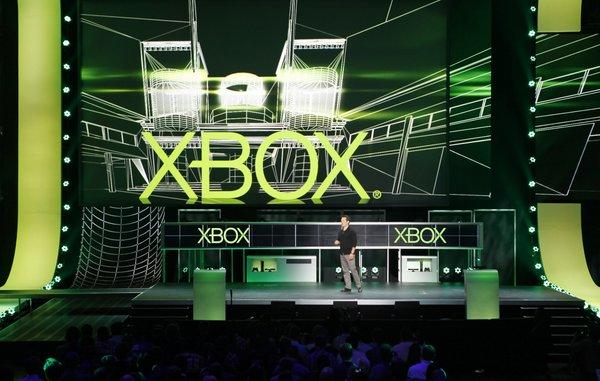 Microsoft's Xbox 360 console outsold Nintendo's Wii U and original Wii consoles combined during Thanksgiving week. Above, a Microsoft event at the E3 video game conference in June.