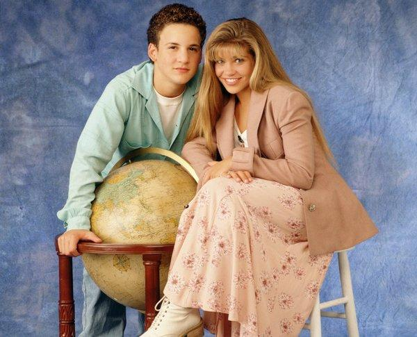 "Ben Savage, starred as Cory and Danielle Fishel as Topanga in ABC's ""Boy Meets World."""