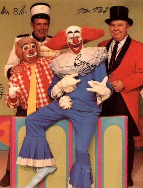 "The cast of WGN-TV's ""Bozo's Circus"" is shown in this photo from 1972."