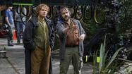Martin Freeman and Peter Jackson on 'The Hobbit' set