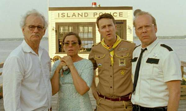 "Wes Anderson's ""Moonrise Kingdom"" received five Spirit Award nominations Tuesday, including one for Bruce Willis, right."