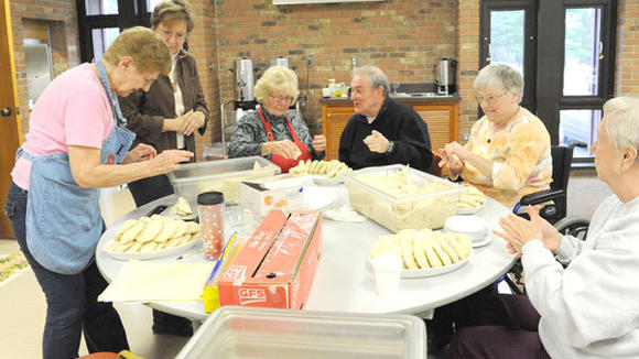 A TRADITION OF pasty making has been happening for 52 years at First United Methodist Church in Gaylord. The pasties are sold with proceeds benefiting various charities.