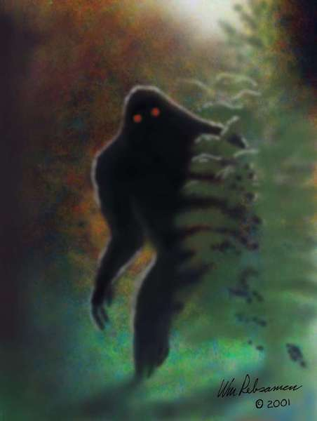 An artist's depiction of Bigfoot. A scientist claims to have sequenced Bigfoot DNA. Others aren't so sure they believe it.