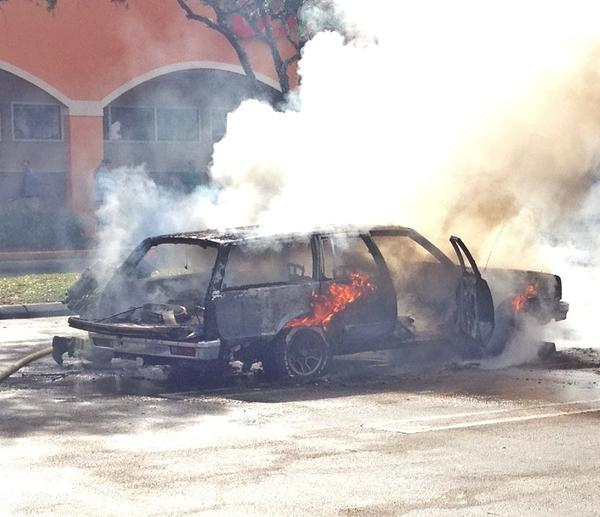 Nobody was hurt when a recently restored 1983 Malibu station wagon was destroyed in a fire in Davie.