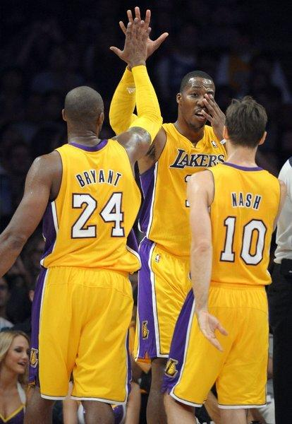 Three Lakers -- Kobe Bryant, Dwight Howard and Steve Nash -- made the NBA's biannual list of bestselling jerseys.