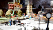 Train garden at Glen Ave. fire station [Pictures]