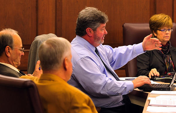 Washington County Administrator Gregory B. Murray speaks Tuesday during a Washington County Commission meeting.