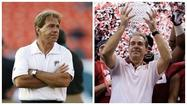 There was Nick Saban, the one thing that never changes in sports, saying it's not fair for Florida to leap-frog the loser of the SEC Championship Game into a prime bowl spot.