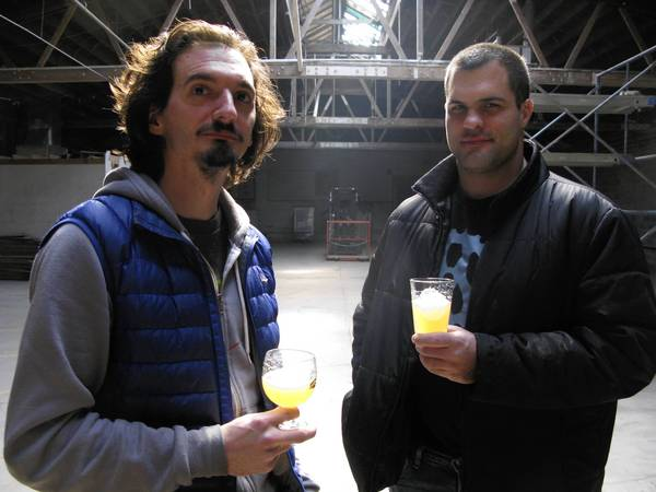 Off Color Brewing owners John Laffler, left, and Dave Bleitner, plan to start releasing their craft beers in March.