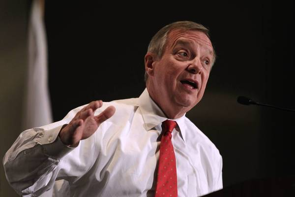 "Sen. Richard J. Durbin (D-Ill.) called on fellow progressives to consider long-term changes to the social safety net. ""We can't be so naive to believe that just taxing the rich will solve our problems,"" he said."