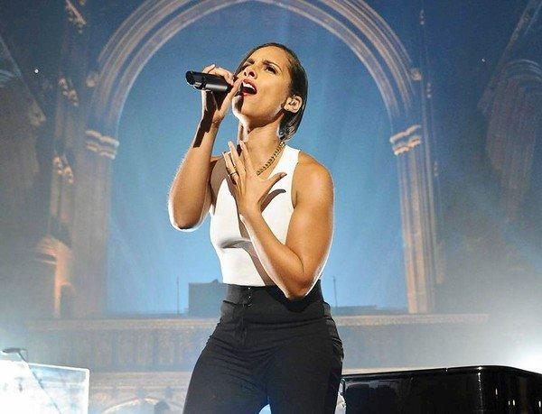"Alicia Keys has a new album, ""Girl on Fire."""