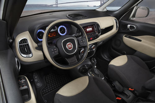 The interior of the all-new Fiat 500L.