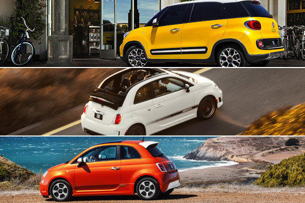Fiat's new 500L, 500c Abarth, and 500e are all on display at the 2012 L.A. Auto Show.