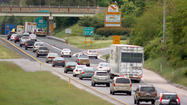 As of 9 a.m. Wednesday, traffic was slow on Route 295 southbound at Route 197 near Laurel.