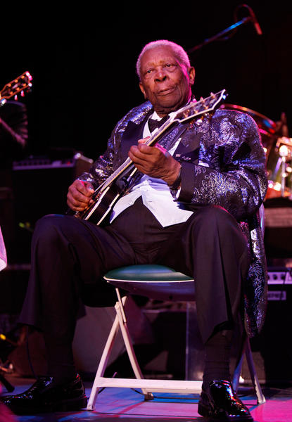 B.B. King performs at the Sands Bethlehem Event Center in Bethlehem on November 27.