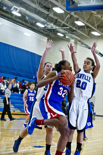 Photo Gallery: Danville girls vs. Lafayette basketball 112712