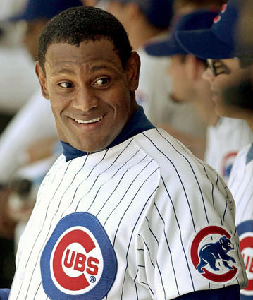 """Slammin"" Sammy Sosa hit over 60 home runs in three different seasons with the Chicago Cubs. And who could forget the '98 home run chase between Sosa, Mark McGwire and Ken Griffey, Jr. that many credit with resurrecting fan interest in baseball following an ugly strike and cancellation of the 1994 World Series?  Still, a 2003 corked bat incident and allegations of PED usage have mired what would otherwise be a first-ballot career."