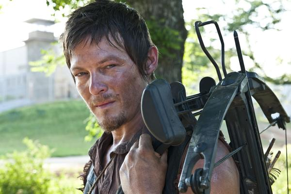 "Daryl Dixon played by Norman Reedus is on the alert for AMC's ""The Walking Dead."""