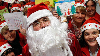 Santas from around the world
