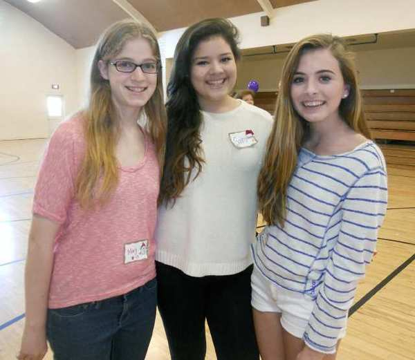 Glendale Ticktockers from the Class of 2016 who attended the Dance-A-Thon at the Glendale YWCA were, from left, Mary Kalfayan, Gabriella Lopez and Ella Gmelich.