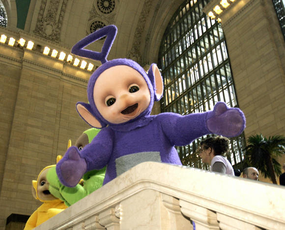 The world famous Teletubbies Tinky-Winky