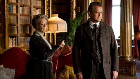 "Maggie Smith and Hugh Bonneville in ""Downton Abbey."" The series was nominated for a Producers Guild Award in the drama category."