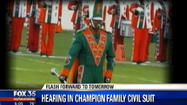 A Florida judge said he probably will rule by the end of next week on a motion to throw out the civil suit by the family of Robert Champion, the drum major who was killed during a hazing incident involving members of Florida A&M University's famed Marching 100 band.